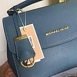 Сумка, клатч М@йкл Корс Ava шкіряна репліка, колір блакитний, фото 6