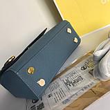 Сумка, клатч М@йкл Корс Ava шкіряна репліка, колір блакитний, фото 7