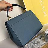 Сумка, клатч М@йкл Корс Ava шкіряна репліка, колір блакитний, фото 8