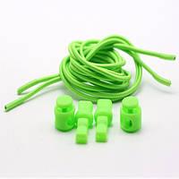 Чудо-шнурки с затяжкой 100см, цвет зеленый