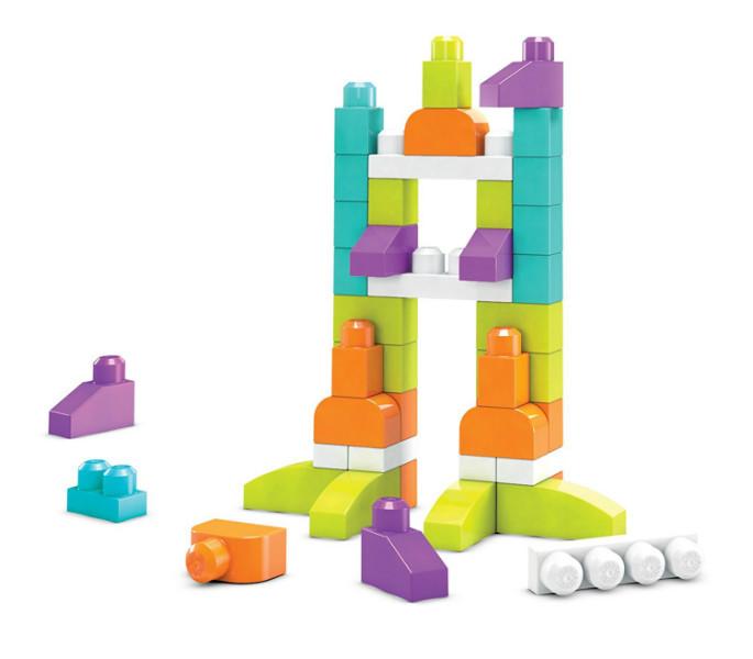 Mega Bloks Конструктор первые строители Imagination Block Buildable Playset 60 Piece