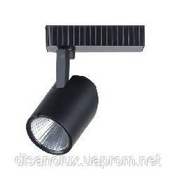 Светильник светодиодный трековый на шинопровод  COB  CREE 7W  3000K  AC185-265V, Черный