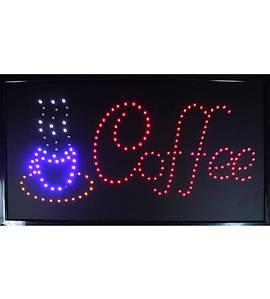 """Светодиодная LED вывеска """"Coffee""""(РекЭкр_Coffee001)"""