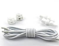 Чудо-шнурки с затяжкой 100см, цвет белый