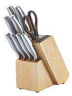 Набор ножей 10шт с резиновым деревянным блоком  HT-MSH06-16011 Herenthal