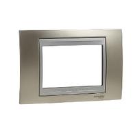 Рамка 3-мод. Матовый никель/Алюминий Unica Schneider, MGU66.103.039
