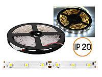 Светодиодная лента 3528/2835 60 LED/m Белый холодный негерметичная