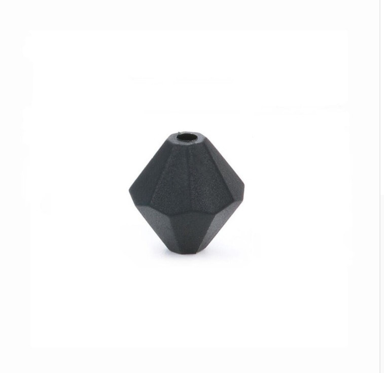 Алмаз (черный) , силиконовая бусина
