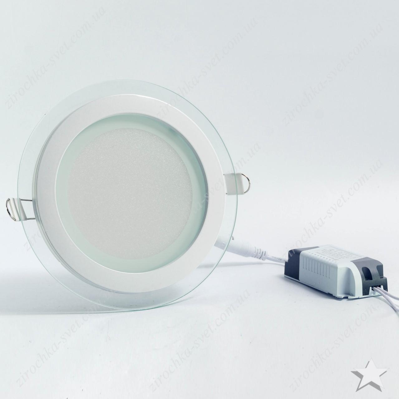 Светильник светодиодный встраиваемый со стеклом 12w Feron AL2110 OL 5000К