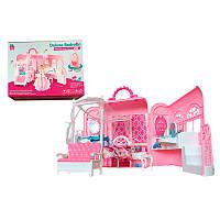 Дом для куклы  6988 в чемодане,с мебелью