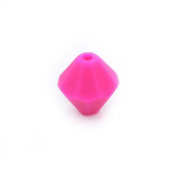 Алмаз (малина) , силиконовая бусина