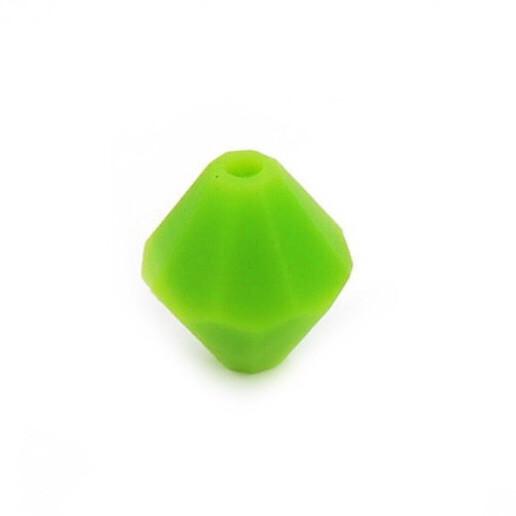 Алмаз (зелений) , силіконова намистина