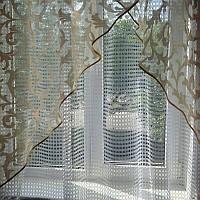 Готовая штора с тюлью для кухни, фото 1