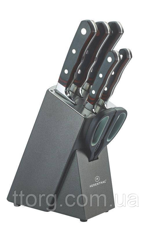 Набор ножей 7шт. с деревянным блоком Herenthal HT-MSF7-16034