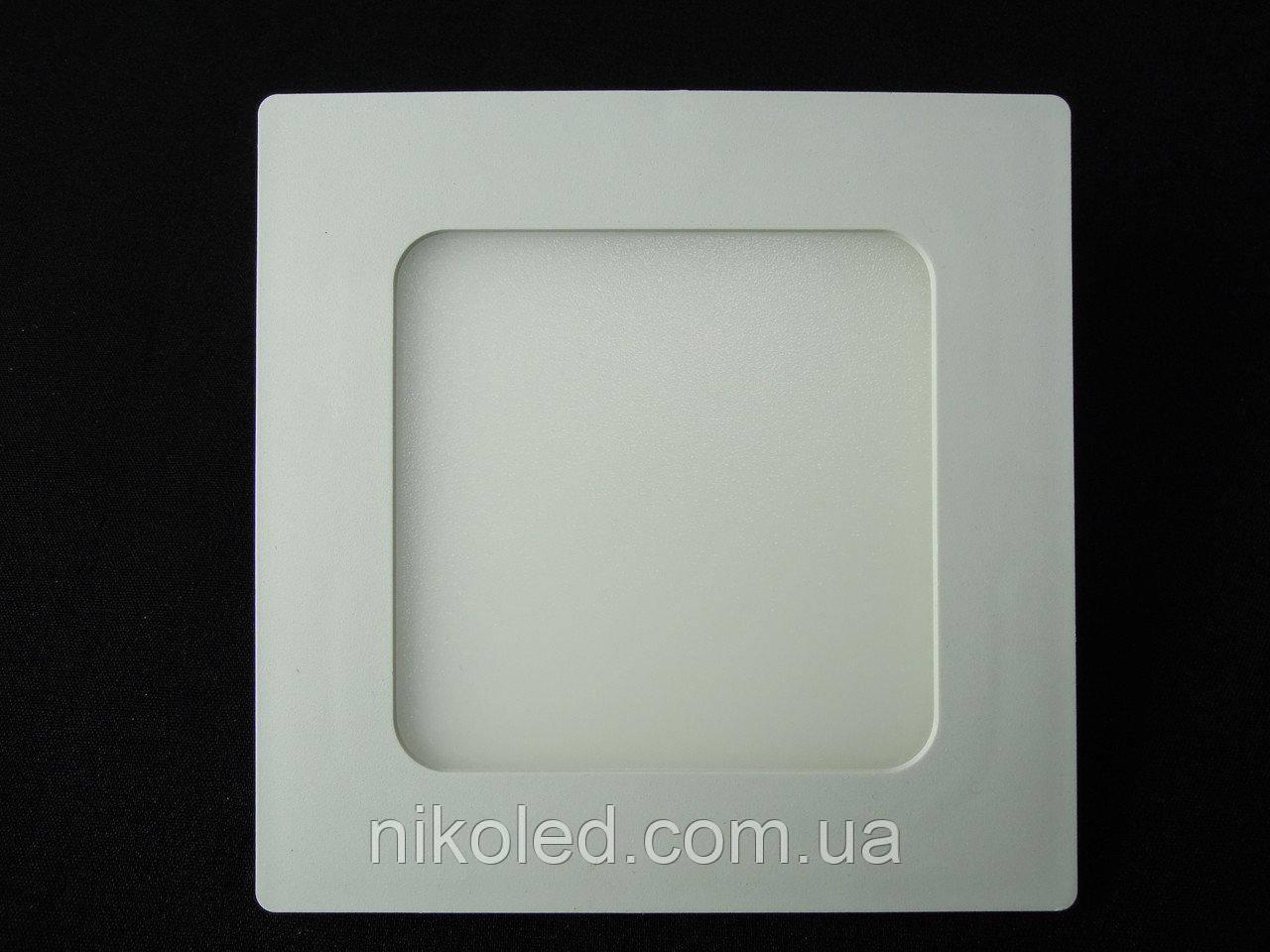 Світильник точковий Slim LED 6W квадрат нейтральний білий