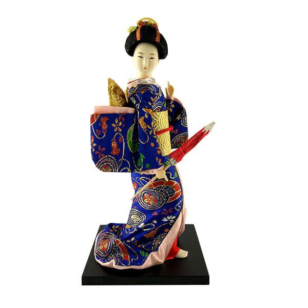 Японская кукла Гейша с зонтиком