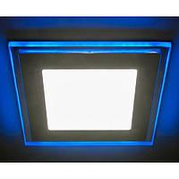 LED светильник встр. LEMANSO 12+4W с синей подсветкой 4500K квадрат LM501