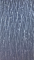 Обои виниловые на флизелине Marburg Loft 59327 однотонные темно серые  волнистые серебряные полосы