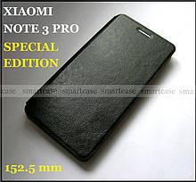 Противоударный чехол книжка Mofi для Xiaomi Redmi Note 3 Pro SE Special edition, чехол черный оригинальный