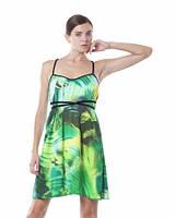 Сарафан летний атласный молодежный, сарафан зеленый свободного покроя, сарафан красивый яркий
