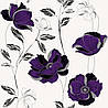 Шпалери паперові Єсенія 1274 біло-фіолетовий