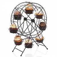 Стойка для пирожных Карусель на 8 кексов, 28.5х13.5х41 см