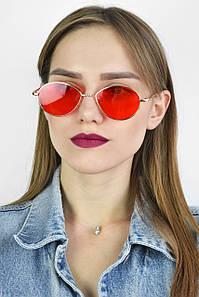 Солнцезащитные очки ретро красные