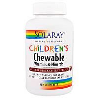Витаминно минеральный комплекс для детей Solaray, 120 пастилок