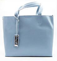 Удивительная женская сумка из кожи светло-голубого цвета TСT-005501