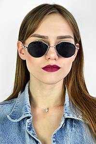 Солнцезащитные очки ретро черные