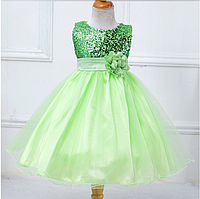 Сукня салатова ошатне випускний ошатне для дівчинки за коліно., фото 1