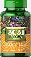 Ягоды Асаи, Acai 1000 mg, Puritan's Pride, 120 капсул