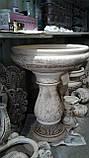 Уличный садовый фонтан-вазон из глины. Высота 80 см, фото 2