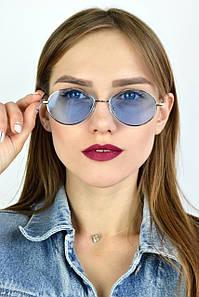 Солнцезащитные очки ретро голубые