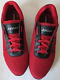 Jordan! літні червоні з чорним чоловічі або для підлітка кросівки в стилі Джордан сітка шкіра, фото 4