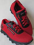Jordan! літні червоні з чорним чоловічі або для підлітка кросівки в стилі Джордан сітка шкіра, фото 7