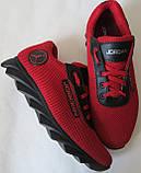 Jordan! літні червоні з чорним чоловічі або для підлітка кросівки в стилі Джордан сітка шкіра, фото 9