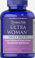 Витамины ежедневные для женщин, Ultra Women Daily Multi, Puritan's Pride, 180 таблеток, купить, цена, отзывы