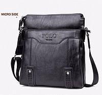 Кожаная мужская сумка-барсетка Polo Videng Есть 3 цвета! Черный