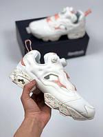 Женские кроссовки Reebok Insta Pump Fury OG pink рибок белые
