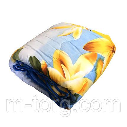 Ковдра полуторна силікон, тканина полікотон, фото 2
