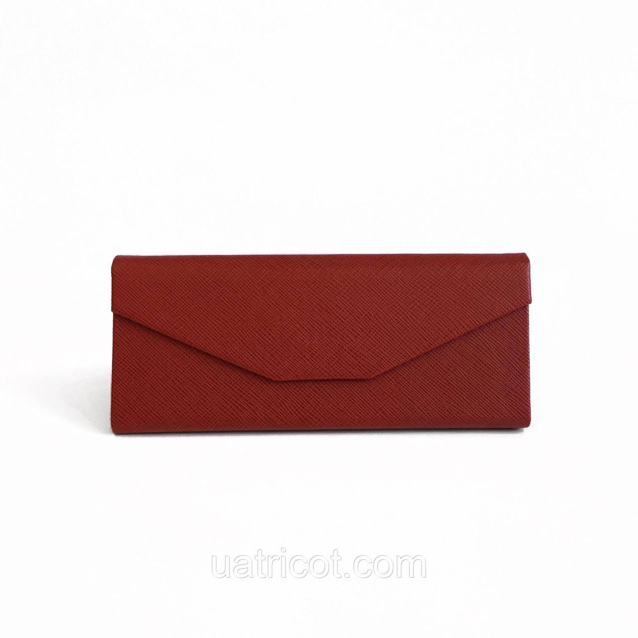 Красный кожаный смарт чехол для солнцезащитных очков