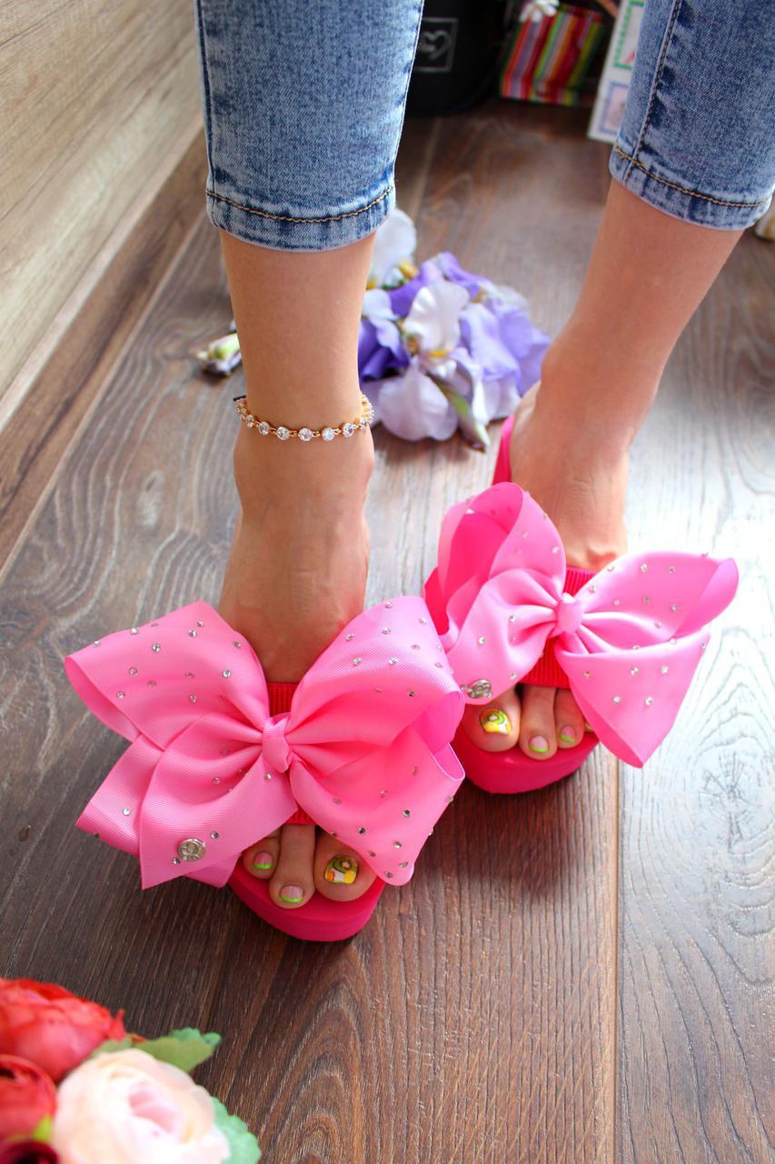 "Вьетнамки ""Pink Bow""(бант,,розовые,летние)"