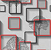 Обои бумажные Нелми 1373 серо-красный