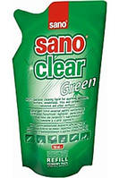 SANO Средство для мытья стекол и зеркал GREEN запаска, 500 мл