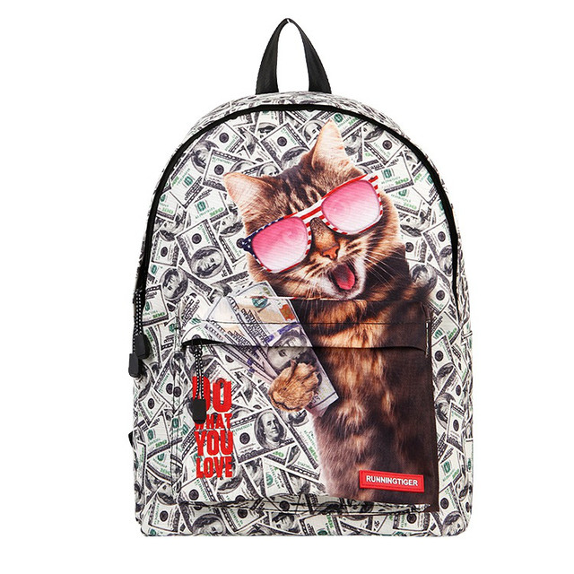 Молодежный рюкзак с принтом Кота