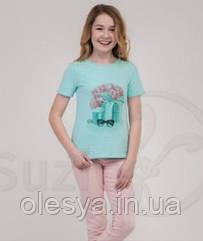 Cтильная футболка для девочки ТМ Suzie Р-ры 116- 158