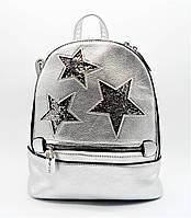 Удивительный женский рюкзак из искусственной кожи серебряного цвета DSQ-852400, фото 1
