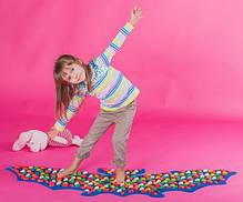 Массажный коврик-массажер с цветными камнями «Летучая Мышь» 143х50 см, фото 3