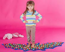 Массажный коврик-массажер с цветными камнями «Летучая Мышь» 143х50 см, фото 2